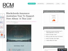 Blackchords announce Australian tour in support of new album A Thin Line