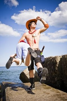 Cosplay - One Piece : Monkey D. Luffy & Portgas D. Ace cosplay