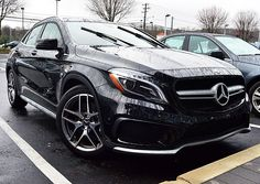 The #GLA45 #AMG will handle beautifully in any weather.