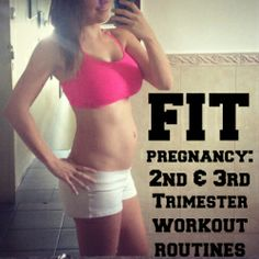 Fit Pregnancy: Second and Third Trimester Workout Routines -- the workout routin. - Fit Pregnancy: Second and Third Trimester Workout Routines — the workout routine sounds great eve - Pregnancy Health, Post Pregnancy, Pregnancy Workout, Pregnancy Fitness, Pregnancy Outfits, Prenatal Workout, Pregnancy Chart, Winter Pregnancy, Happy Pregnancy