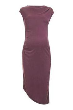 MATERNITY Cupro Drape Midi Dress
