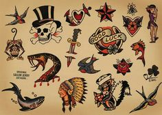 The Best Temporary Sailor Jerry Collection tattoos. Only EasyTatt Sailor Jerry Collection Tattoos Look Real, Use Your Own Design or Choose from Thousands of Designs. Sailor Jerry Flash, Sailor Jerry Swallow, Sailor Jerry Tattoos, Old Sailor Tattoos, Tattoo Flash Art, Tatoo Art, Real Tattoo, Old School Tattoo Designs, Tattoo Designs Men
