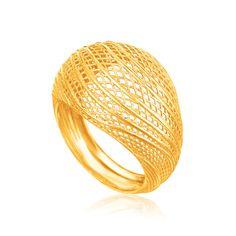 Lattice Ring in 14K Yellow Gold - Richard Cannon Jewelry