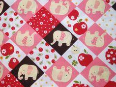 Fabric Elephant (Pink)