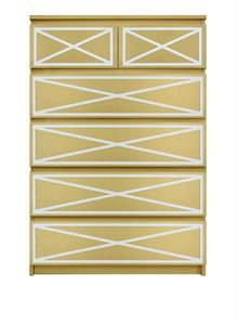 Picture of Xandra O'verlays Kit for IKEA MALM (6 drawer chest)