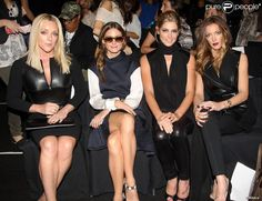Jane Krakowski, Olivia Palermo, Ashley Greene et Katie Cassidy, un charmant premier rang pour le défilé KaufmanFranco printemps-été 2014. New York, le 9 septembre 2013.