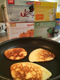 AdvoCare Meal Replacement Shake Protein Pancakes (ONLY 3 INGREDIENTS)