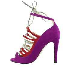Sandals by Luiza Barcelos in Radiant Orchid and Red sued #twistedmode #brazilianfootwear #shoes #shoelovers