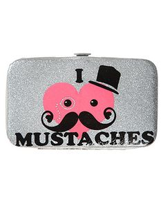 omg i so love this!!!!! rue21 Mustache Wallet. $5.99