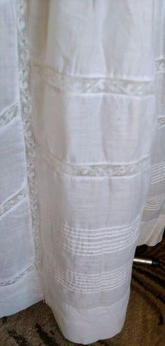 Antique 1890's White Cotton Victorian Wedding Dress   Etsy Bridal Gowns, Wedding Dresses, Lace Inset, Wool Dress, Celebrity Dresses, Blue Plaid, Bridal Style, White Cotton, Veil