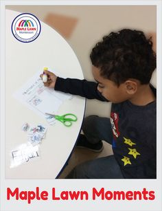 A fun glue stick activity idea to help toddlers learn to use glue. Enroll Now And Get Your Early Bird Registration Discount and Call Us Chantilly At- (703) 955-7202 Visit here: http://maplelawnmontessori.com/ #Chantilly #Virginia #Learning #EarlyEducation Maple Lawn Montessori