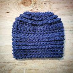 Top Knot Beanie // Messy Bun Hat   Etsy shop https://www.etsy.com/listing/497205928/top-knot-beanie-messy-bun-hat