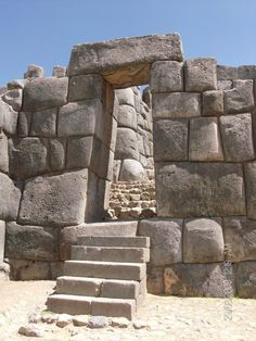 Saksaywaman walled complex on the northern outskirts of the city of Cusco, Peru, the former capital of the Inca Empire. Like many Inca constructions, the complex is made of large polished dry stone walls, with boulders carefully cut to fit together tightly without mortar.