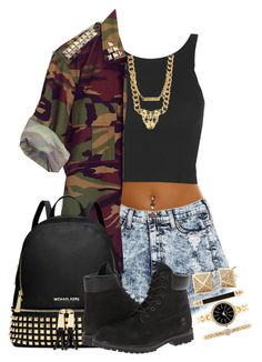"""""""Untitled #166"""" by choco-chip-cookie on Polyvore featuring Topshop, MICHAEL Michael Kors, Style & Co. and Timberland"""