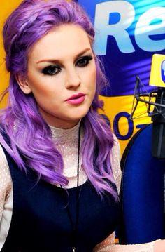 perrie edwards purple hair