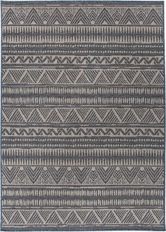 Bahama - World Rug Gallery Bohemian Pattern, Wooden Decks, Indoor Outdoor Area Rugs, Home Rugs, Easy Gifts, Home Decor Styles, Vivid Colors, My House, Blue