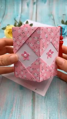 Diy And Crafts DIY Origami Paper Pen Holder Origami crafts DIY Holder origami videos Paper Pen Paper Flowers Craft, Paper Crafts Origami, Paper Crafts For Kids, Paper Crafting, Origami Flowers, Flower Crafts, Diy Paper Box, Origami Paper Folding, Paper Bag Crafts