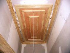 Pull Down Attic Stairs Design Ideas - Home Interior Design Ideas Attic Staircase, Attic Ladder, Stairs, Staircases, Small Attic Room, Attic Playroom, Attic Wardrobe, Attic Closet, Garage Attic