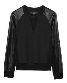 rag & bone Official Store, Kent Crewneck, black fl, Womens : Ready to Wear : Sweaters : Cotton, W236A13NE