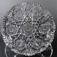 Antique ABP American Brilliant Cut Glass Low Bowl