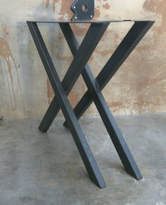 Metal Table Legs X Shape Set of 2 by SteelImpressionRails on Etsy