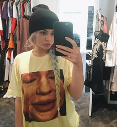 Here's Kylie Jenner Wearing a T-Shirt With Her Face on It