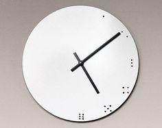 Eletra  Dry Erase Circular 10 inch Wall Clock by MixedMangos, $32.00