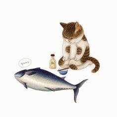 Art Inspo, Inspiration Art, I Love Cats, Crazy Cats, Abstract Portrait Painting, Cut Cat, Animal Action, Art Nouveau Poster, Cat Cards