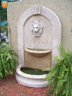 Granite Garden Wall Fountain Lion Head Wall Fountain