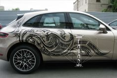 Аэрография в стиле трайбл на Porsche Macan. #Porsche #cars #auto #tribles #tatoo #paint #brush #airbrush #cool #fashion #beautiful #great