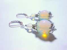 Faceted Welo Opal Gemstone Sterling Silver Dangle by MoodTherapy, $31.50