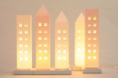 House lights of Finnish carton. Design by Helena Mattila. Made in Finland.