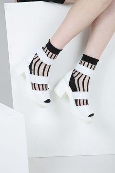 Velcro Strap Chunky Sandal White