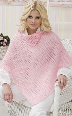 Novita Oy - Neulemalli: Neulottu palaponcho Cable Knit Sweaters, Crochet Projects, Crochet Tutorials, Free Crochet, Knitting Patterns, Turtle Neck, Crocheting, Shawl, Caps Hats