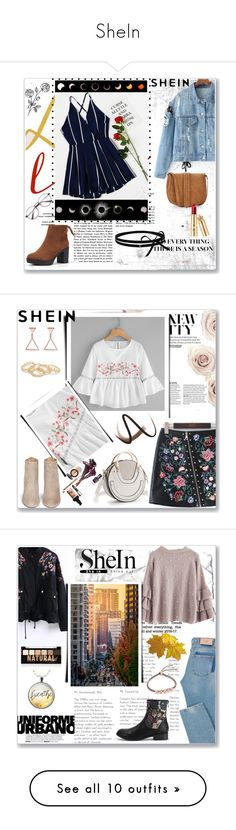 """SheIn"" by musicajla ❤ liked on Polyvore featuring Express, Aquazzura, Burberry, NYX, Monica Vinader, Whiteley, Skechers, lilah b., Chanel and Olivia Burton"