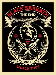 "BLACK SABBATH ""THE END"" / Shepard Fairey via obeygiant.com"
