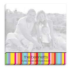 Colorful Stripes Photo Notepad
