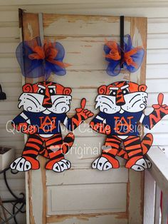 Auburn Tiger Aubie Door Hanger by queensofcastles on Etsy, $50.00