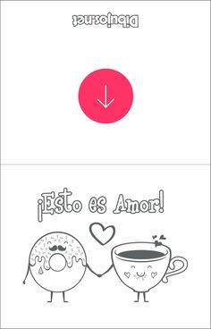 Tarjeta de San Valentín para colorear - Esto es amor