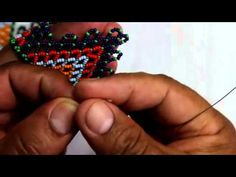 Seed Bead Patterns, Peyote Patterns, Beading Patterns, Jewelry Making Tutorials, Beading Tutorials, Cool Mens Bracelets, Beaded Crafts, Beading Techniques, African Beads