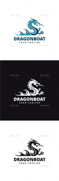 Dragon Boat: Animal Logo Design Template by yopie. Logos, Logo Branding, Logo Design Template, Logo Templates, Logo Dragon, Dragon Boat Festival, Portfolio Logo, Font Names, Text Fonts