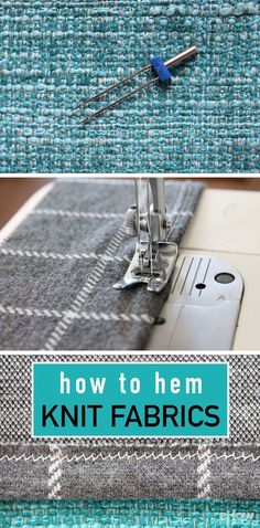 Learn to hem knit fabrics to give your garment a polished and professional finish. Step by step instructions how to hem knit fabrics here: http://www.ehow.com/how_7422013_hem-knit-fabrics.html?utm_source=pinterest.com&utm_medium=referral&utm_content=freestyle&utm_campaign=fanpage