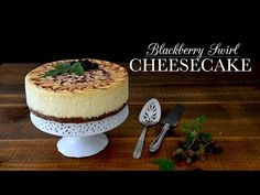 Decadent, stunning, and creamy. There is something classic about a slice of cheesecake. Watch online: Blackberry Swirl Cheesecake with Rye Pecan Crust from Kitchen Vignettes. On demand, streaming video from KTXT My Recipes, Favorite Recipes, Kitchen Vignettes, Pbs Food, Classic Cheesecake, Cheesecake Recipes, Just Desserts, Pecan