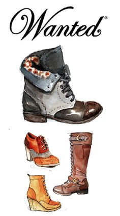 Wanted Shoes: glorious #fashion #illustration from Katie Rodgers, aka @Katie Schmeltzer Schmeltzer Schmeltzer Schmeltzer Rodgers