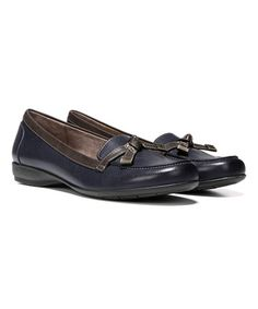 Navy & Brown Gracee Loafer #zulily #zulilyfinds