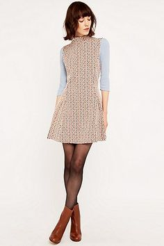 Urban Outfitters Jersey Jacquard Turtleneck Dress - Urban Outfitters