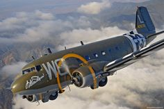 "Douglas C-47A Skytrain ""Willa Dean"" W6-L Ser. No. 44-76791. A Normandy landings painted classic beauty on the go!"