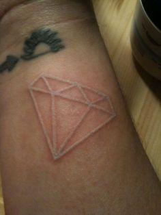 Diamond white tattoo