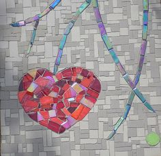 Mosaic by Charlie McAulife Mosaic Designs, Mosaic Patterns, Mosaic Pictures, Mosaic Madness, Mosaic Wall Art, Living Room Mirrors, Art Thou, Love Symbols, Heart Art