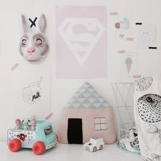 LuckyBoySunday, Mini Rodini and FermLiving makes this childs room lovely!